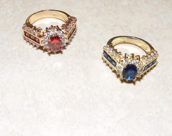 Ruby and Sapphire Rings