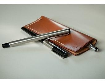 Leather pen case, leather pencil case, leather pen pouch, leather pen holder, leather pencil pouch, personalized mens