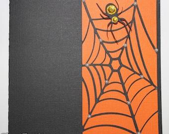 4 Cool Handmade Halloween Spider Web Card