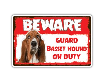Basset Hound Dog Aluminum Metal Novelty Sign