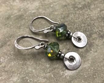 Rune - Czech Glass and Sterling Silver Earrings