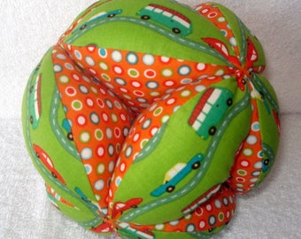 Transportation Easy-Catch Baby/Toddler Clutch Ball - Montessori Inspired - Baby Shower Gift