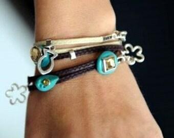 Evil eye bracelet luck charm bracelet good luck string stacking bracelet friendship accessory by RedBracelet on etsy