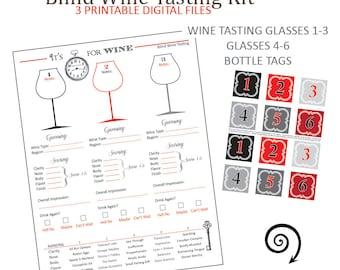 Wine Tasting - Blind Wine Tasting - Wine and Cheese - Wine Rating - Wine Scoring - Wine and Cheese Party - Wine Party - Printable - Wine