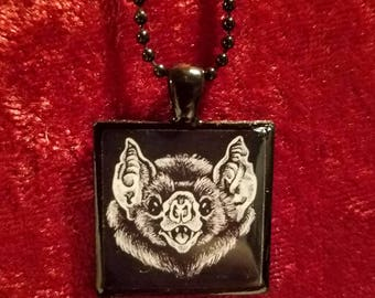 Handmade Bat Pendant Necklace