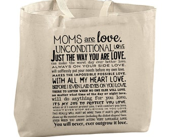 Mom Tote Bag Mothers Day Gift Under 25 Canvas Tote Bag Reusable Grocery Bag Mother In Law Gift Birthday Present For Mom Quotes Women's Tote