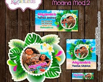 Moana Kit Editable Printable School labels