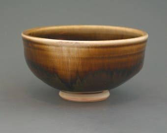 Chawan, woodfired porcelain w/ tenmoku and natural ash glazes