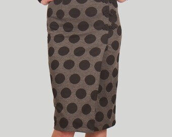 SHIPS TODAY! Drip Drop High Waisted Skirt