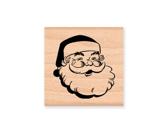 SANTA-Wood Mounted Rubber Stamp (MCRS 29-09)