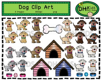 Dog Clip Art - Digital Clipart - Pets - Instant Download