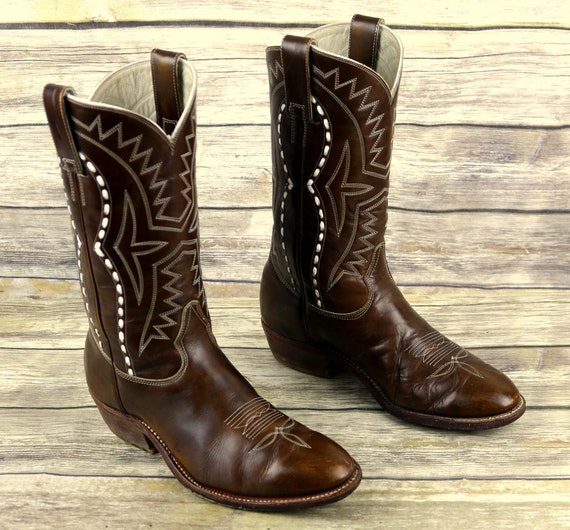Don Leather Boots Quijote 8 Cowboy Wide Width Western Size 5 Vintage Brown Mens E rxqrgInF