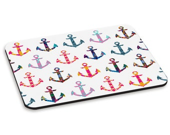 Patchwork Anchors PC Computer Mouse Mat Pad