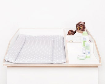 changing pad 50 x 73 cm changing mat for 80 cm Ikea chest of drawers free from pollutants and washable stars white grey