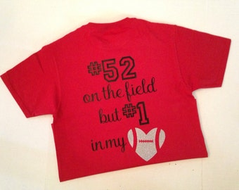 Number 1 in my Heart Football Shirt