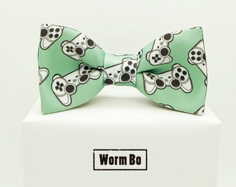 GamePad Bow tie, Green bowtie, Joypad, Joystick
