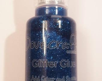 Glitter Glue Amethyst - Topaz Blue - Dovecraft 1 x 20ml Bottle