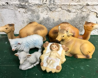 Christmas Nativity Homco Vintage 6 piece