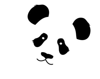 Cute Panda Vinyl Decal, Panda Die Cut Decal, Cute Panda car, laptop sticker.