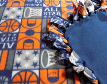 All Stars Basketball Hand Tied Fleece Blanket