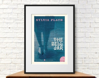 The Bell Jar by Sylvia Plath. Book Cover Art Print