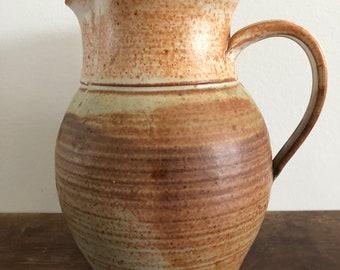 vintage brown water pitcher