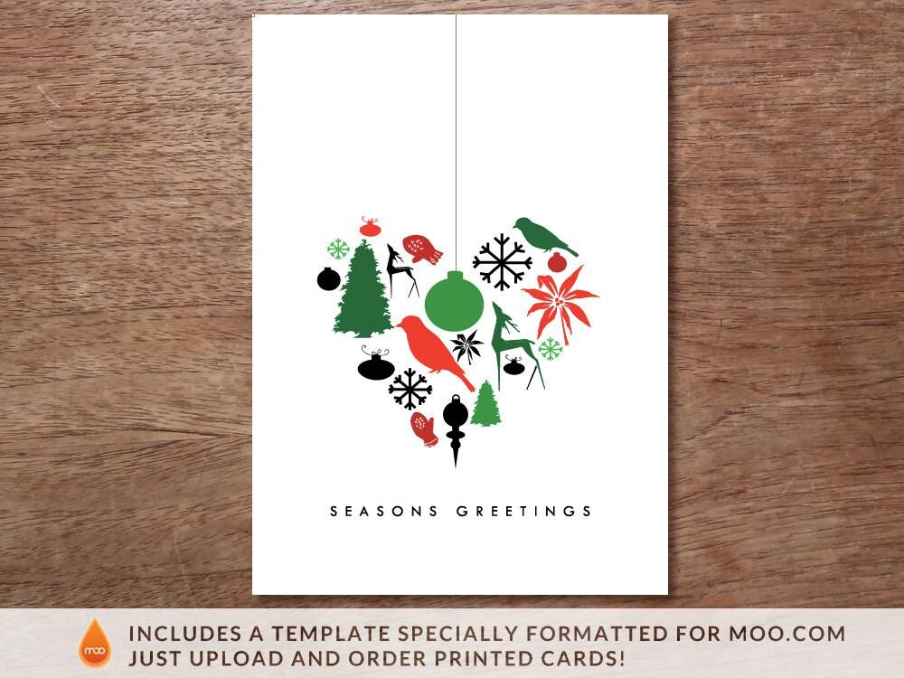 Weihnachtskarte Vorlage Weihnachtsherz