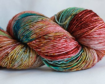 MIDNIGHT SPECIAL- Speckle dyed super wash merino single ply 100 grams (400yds) #2 free shipping