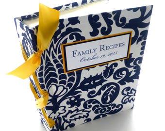 Personalized Recipe Book -  choose ribbon color