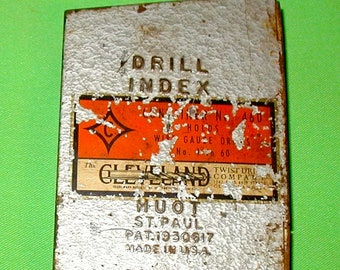 old drill bit index Clevland company SAE tap sizes decimal metal case