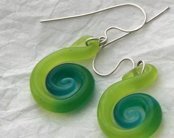 Glass Spiral Earrings