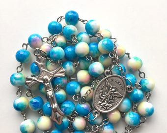 Saint Michael Rosary with Case