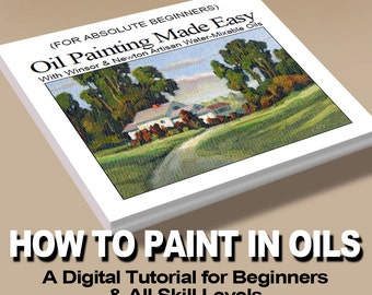 OIL PAINTING Made EASY! Art Instruction Tutorial for  Beginners and All Skill Levels. Landscape Project you can paint on your very first try