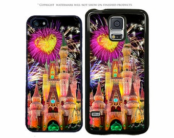 Disney Castle Yellow Heart Personalized Phone Case For Apple iPhone 7, 7 Plus, iPhone 8, Galaxy S8, S8 Plus S7 S7 Edge, LG G6, Pixel, Note 8