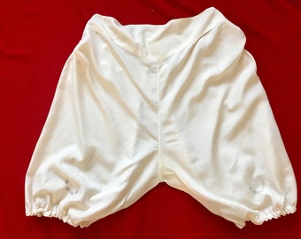 """Victorian 1900s Bloomers Buttoned Sides Rare Exquisite Pure Silk Example Curvy Burlesque 40"""" XXL"""