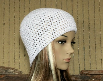 Womens Crochet Hat, White Beanie, Women Mens Beanies, Wool Winter Hat, Student Beanie, Birthday Gift, Australia