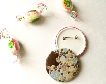COFFEE badge 58 mm - Made of fabric - Button badge - Gift ideas