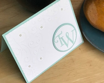 Monogrammed note card set, Personalized note card set, Set of 8 monogrammed note cards, Set of 8 personalized note cards, Boxed set of notes