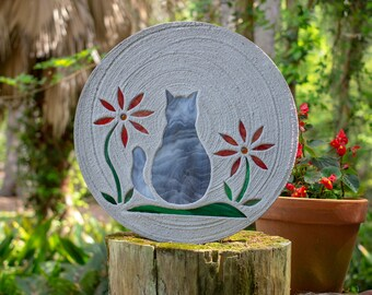 Gray Tabby Kitty Cat Stepping Stone #803