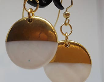 Gold and Pearl Dangles