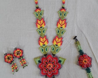 Mexican necklace, includes earrings and bracelet