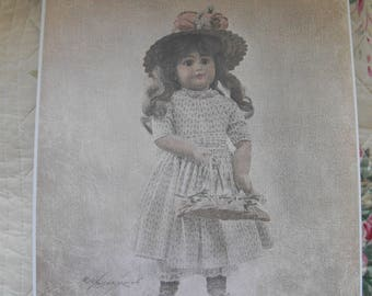Rolland Hendrickson Vintage Doll Print  #10 Tisket a Tasket