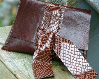 Women's Brown Leather Coin Purse Wallet