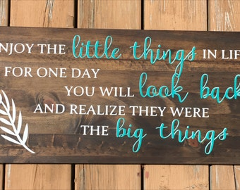 Quote Wood Sign // Custom Wood Sign // Rustic Sign // Personalized Sign // Large Wood Sign
