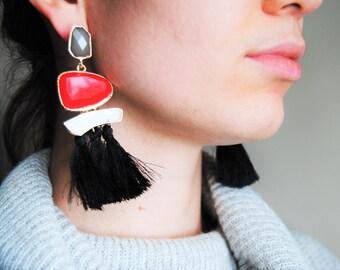 Drop Earrings, Ethnic Fringe Earrings , Tassel Long Earring For Women, multicolor dangle earrings