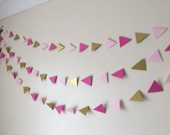 Geometric garland, wedding garland, bridal and baby shower garland, party garland,