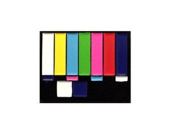TV Test Card Color Bars Enamel Pin