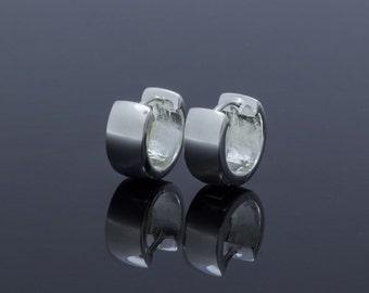 Klappcreolen polished Silver 925