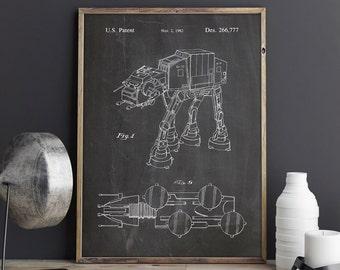 Star Wars Poster, At At Walker Print,At At Walker Poster,