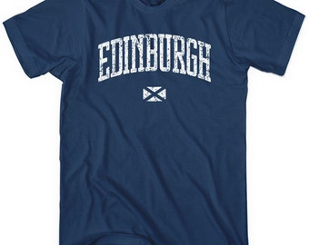 Edinburgh T-shirt - Men and Unisex - Scotland Tee - XS S M L XL 2x 3x 4x - 4 Colors